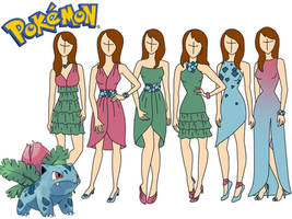 Pokemon fashion: Ivysaur by Willemijn1991