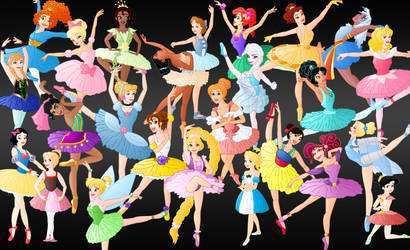 All the disney Ballerina's by Willemijn1991