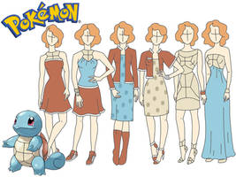 Pokemon fashion:  Squirtle by Willemijn1991