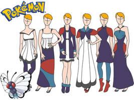 Pokemon fashion: Butterfree by Willemijn1991