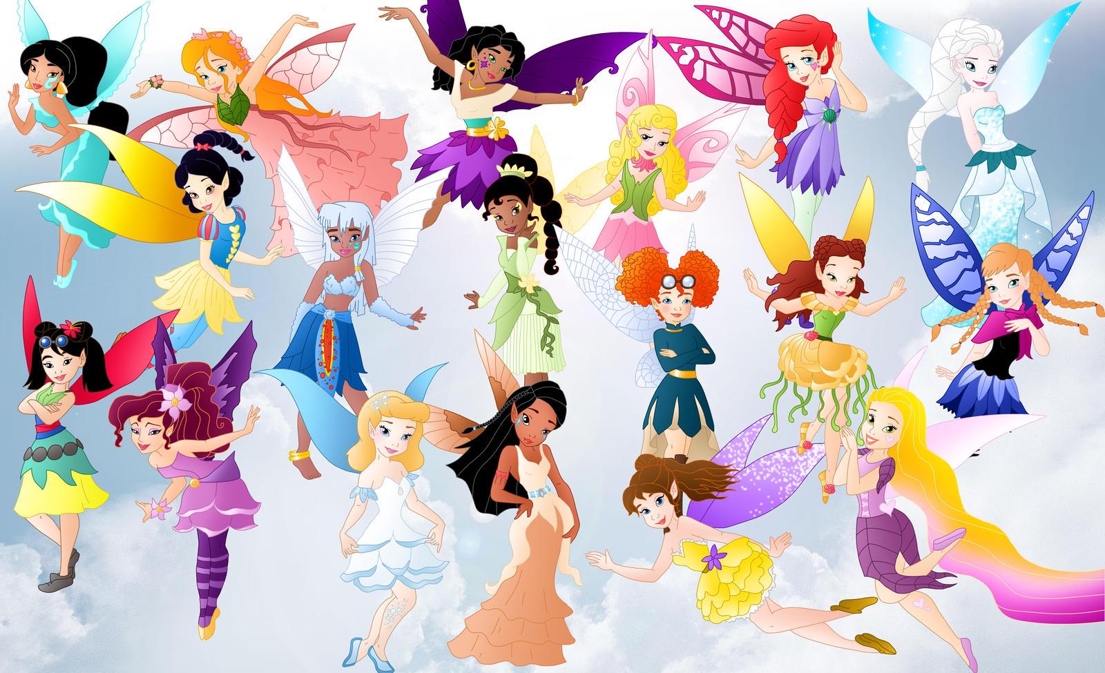 all princess fairies by willemijn1991 on deviantart