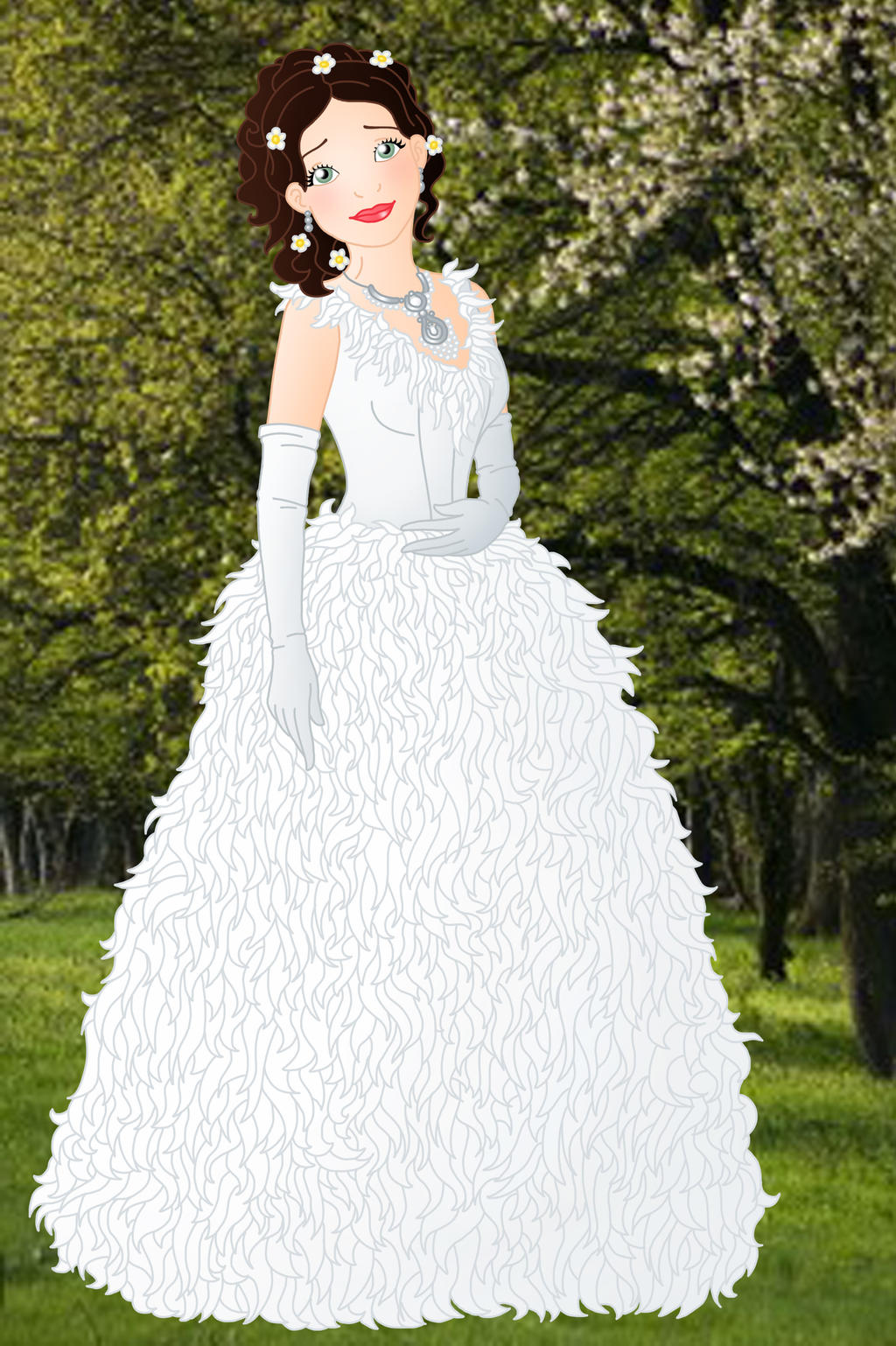 Once upon a time snow white by willemijn1991 on deviantart for Snow white wedding dress once upon a time