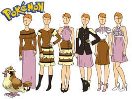 Pokemon fashion: Pidgey by Willemijn1991