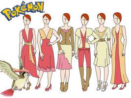 Pokemon fashion: Pidgeot by Willemijn1991