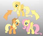 Pony Fushion: Apple Jack And Fluttershy