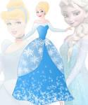 disney fusion: Cinderella and Elsa