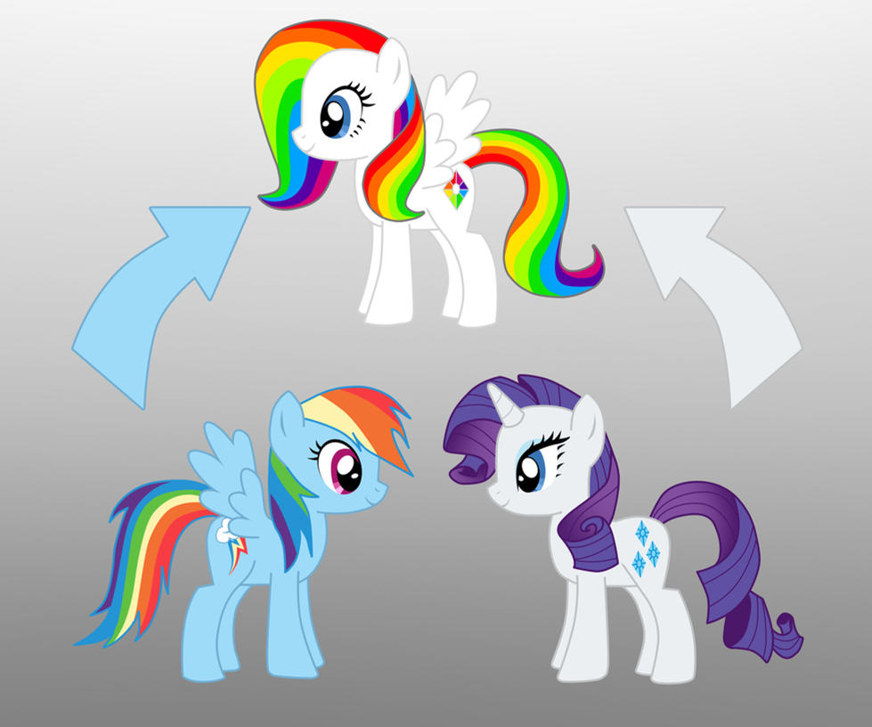 Pony Fusion Rainbow Dash And Rarity By Willemijn1991 On