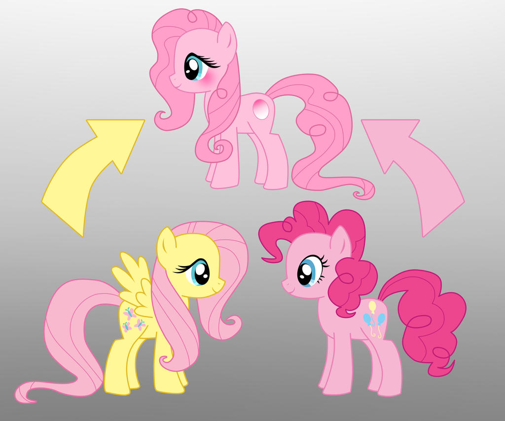 pony fusion fluttershy and pinkie pie by willemijn1991 on