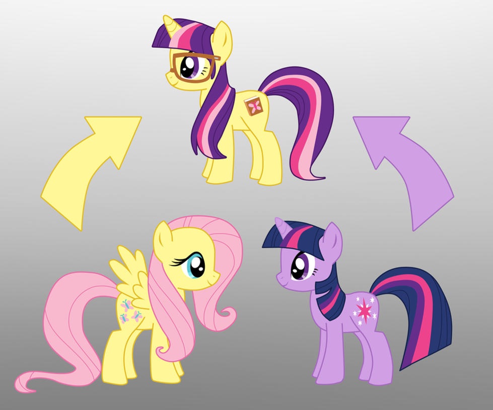 Pony Fusion Fluttershy And Twilight By Willemijn1991 On
