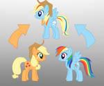Pony Fushion Apple Jack And Rainbow Dash