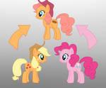 Pony Fushion: Apple Jack And Pinkie Pie