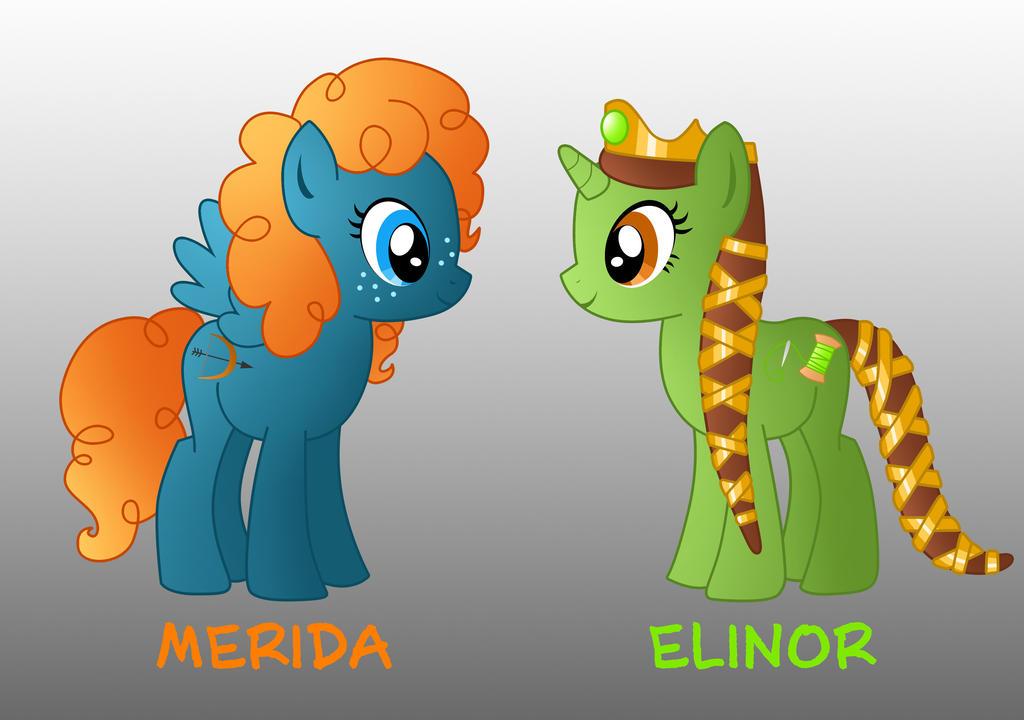 My Little Disney Merida And Elinor By Willemijn1991 On