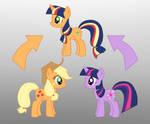Pony Fusion: Apple Jack And Twilight
