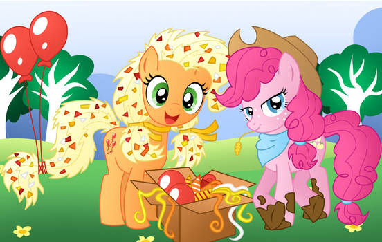 commision for davaba19: Pinkie and AJ Switch