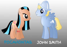 My little disney: Pocahontas and John Smith by Willemijn1991