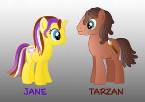 My little disney: Jane and Tarzan by Willemijn1991