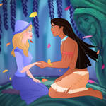 couple bending: Pocahontas