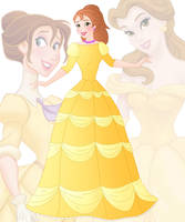 disney fusion: Belle and Jane by Willemijn1991