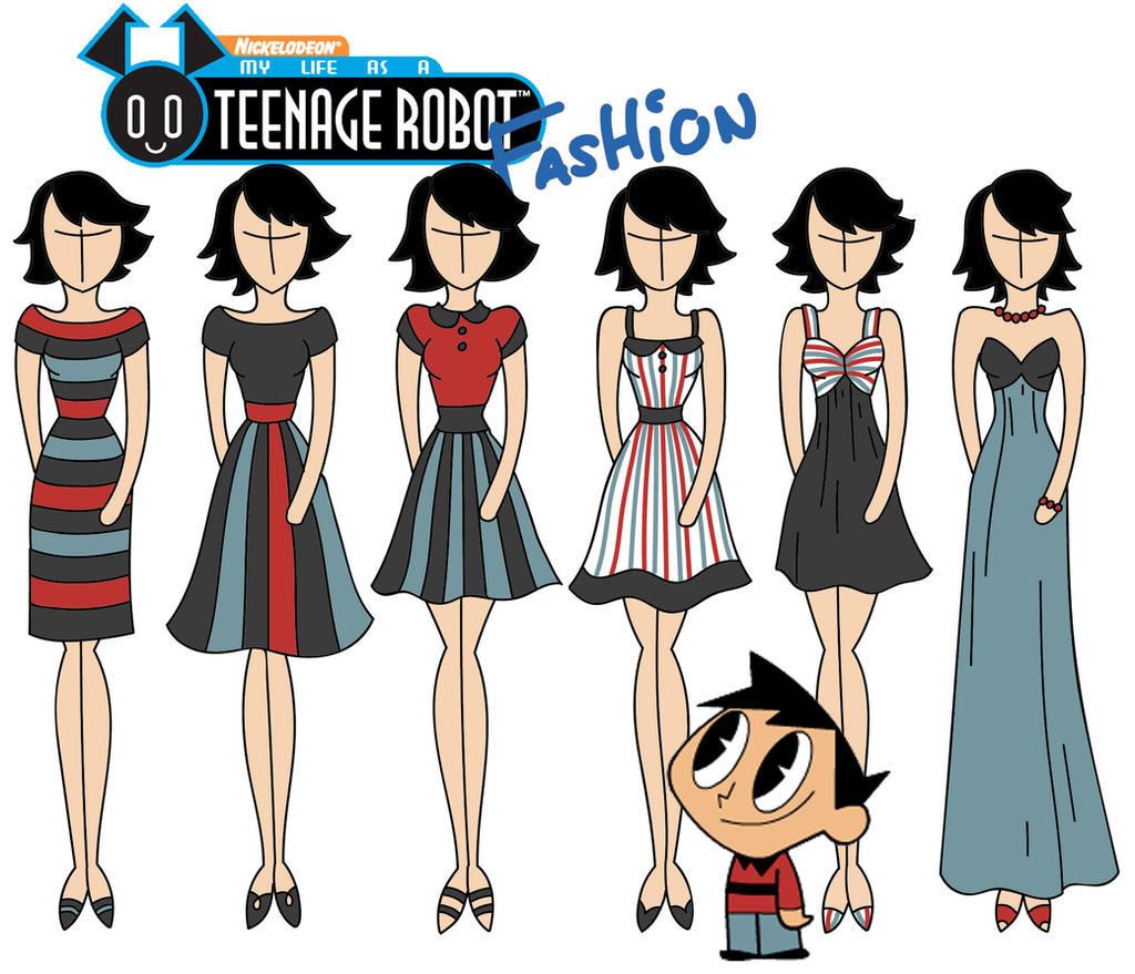 My life as a teenage robot fashion tuck by willemijn1991 for My life as a teenage robot opening