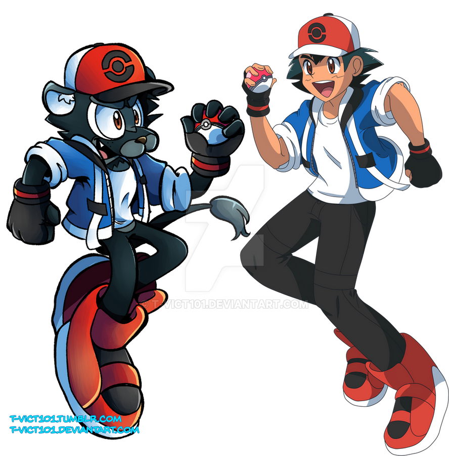 Pokemon Chaos And Ixis Ask Ketchum Speedpaint By T Vict101 On Deviantart