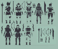 Tribe Warrior concepts by lilyhosegood