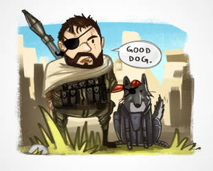 MGS5: Boss and D-Dog by spatss