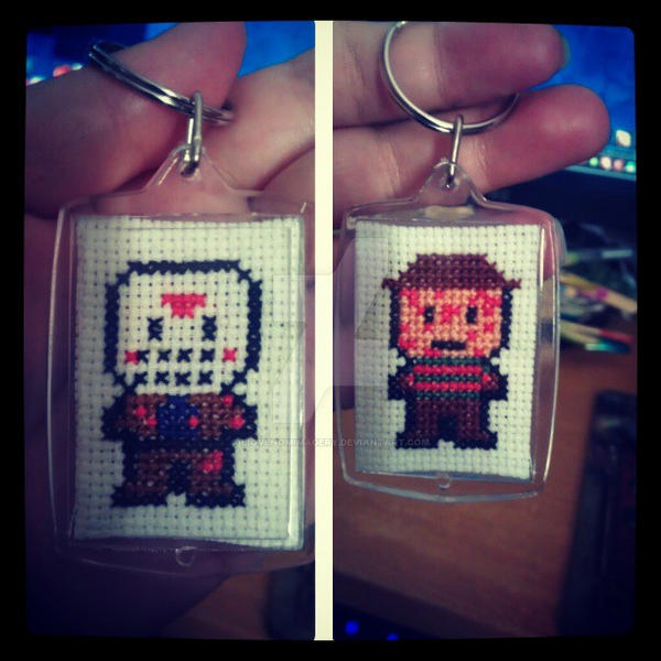 Freddy vs Jason keyring by BioVenomImagery