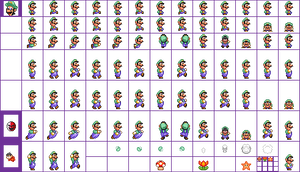Super Mario Crossover 2 Sprites Luigi SMB2 (SNES)