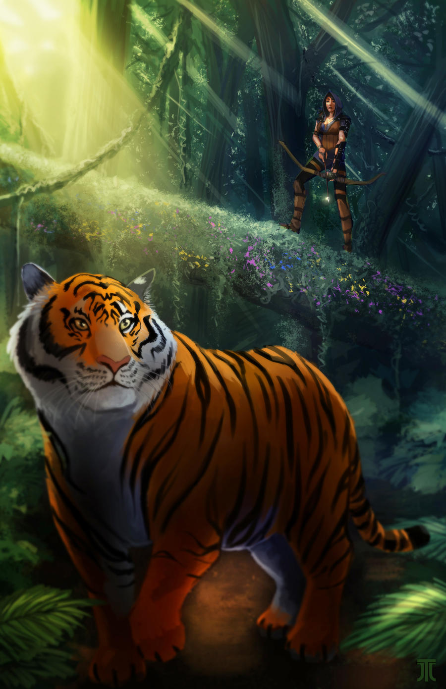 Tiger-hunter by Kuroart