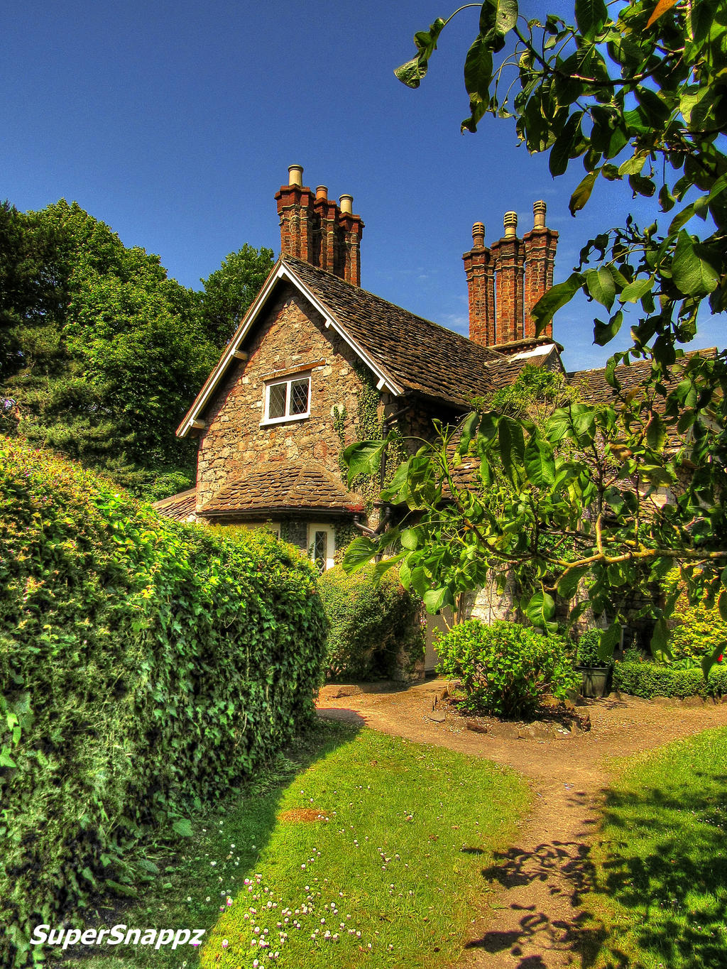 Double Cottage - Stock image by supersnappz16