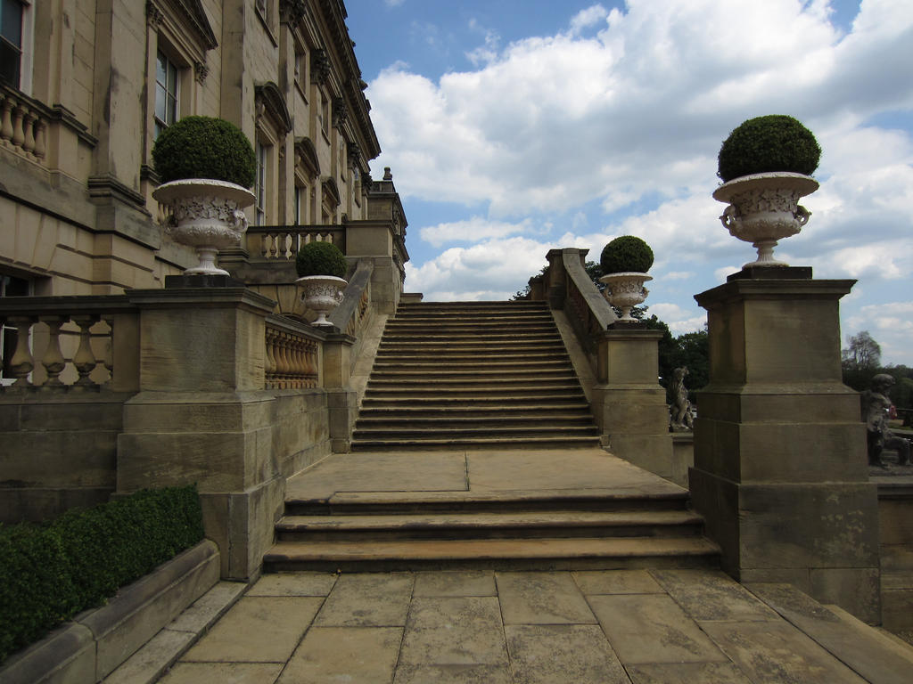 Wide Stone Steps -Stock by supersnappz16