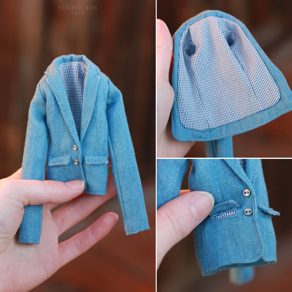 1/6 scale Coat for a Doll by striped-box