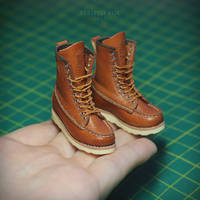 1/6 scale boots for a doll by striped-box