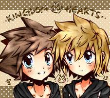 KH - Sora and roxas by peachmomo