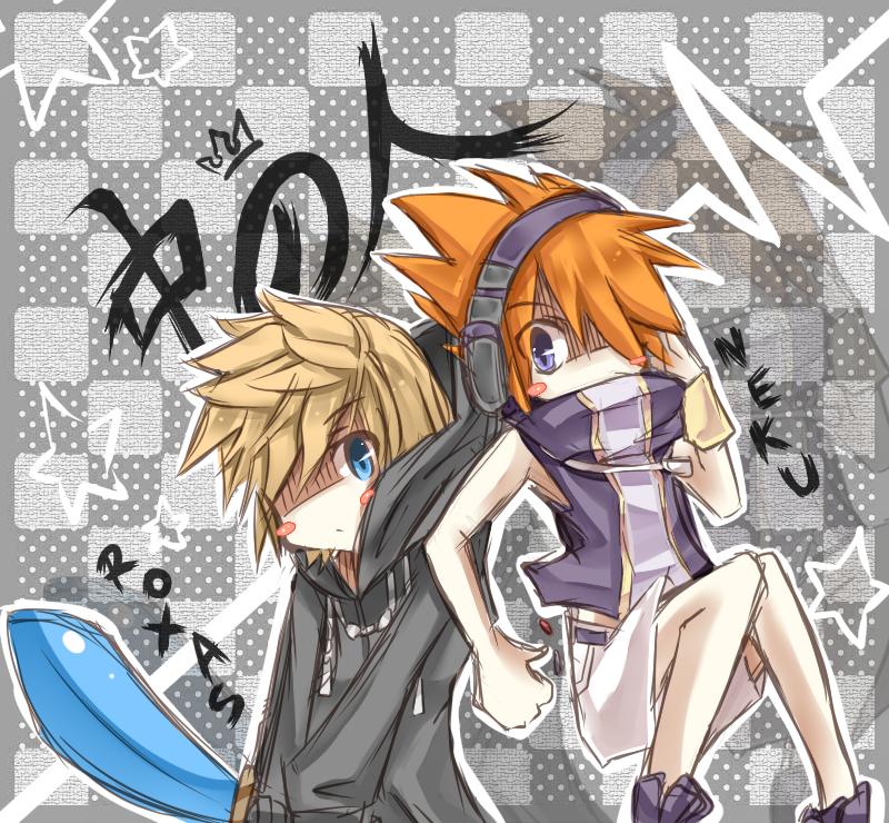 KH - Neku and Roxas by peachmomo