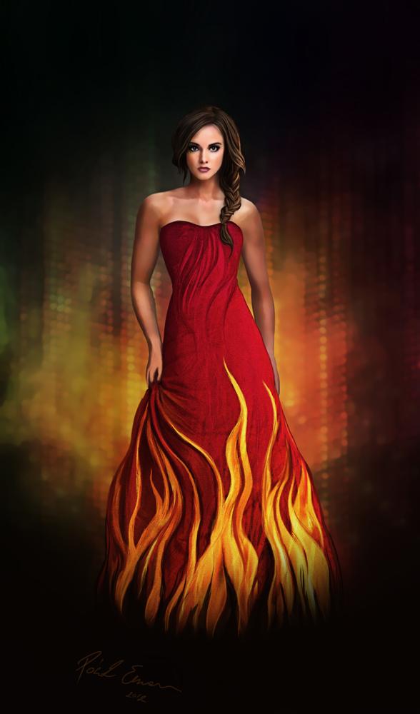 Katniss Everdeen Fire Dress