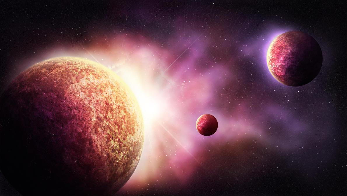 Planets of purple world by emesemese