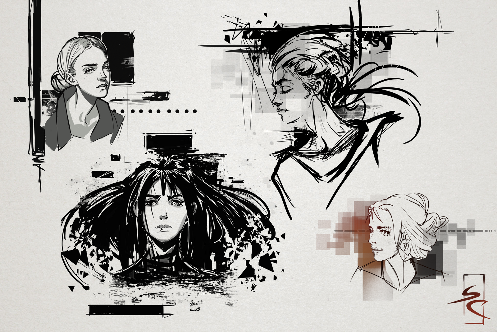 Dynamic sketching, page 4