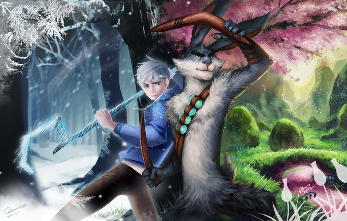 Rise of the guardians - Jack and Bunny by Scyao