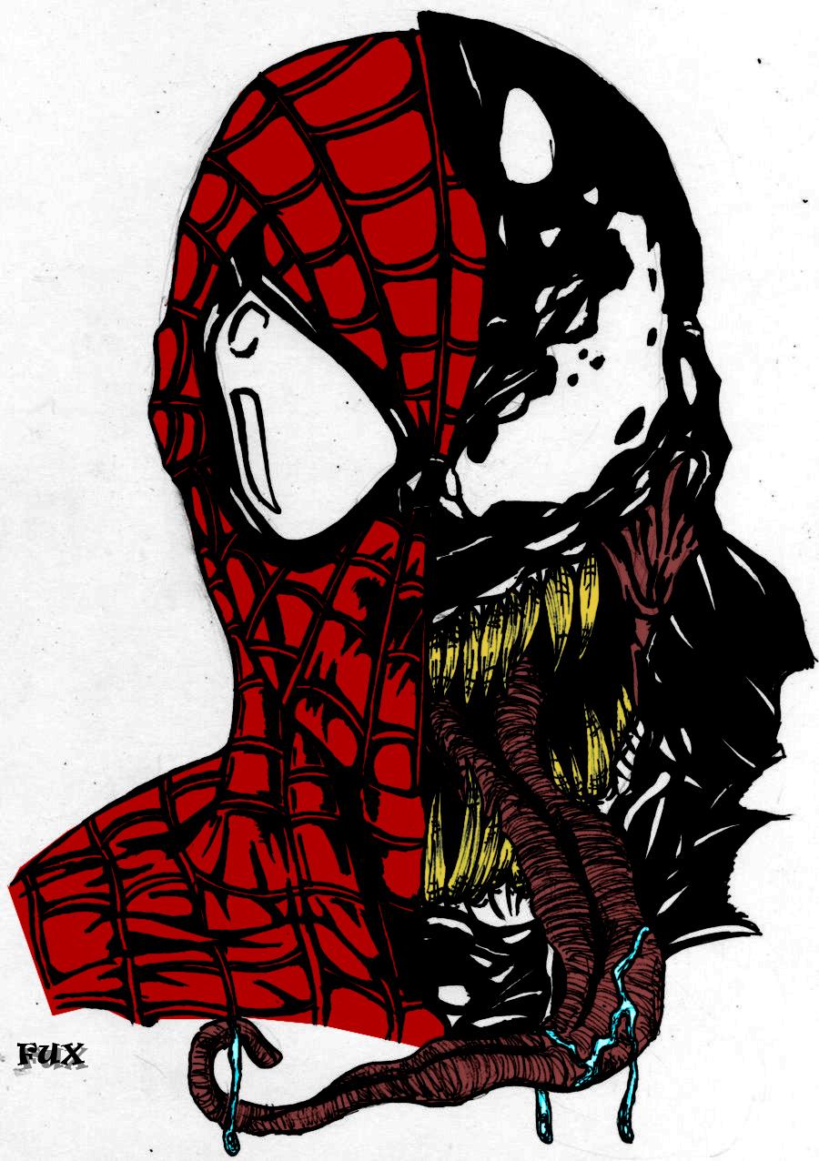 Venom and Spiderman by fuxkrazymanVenom Spiderman 4