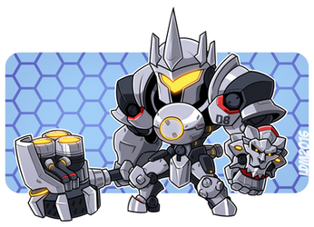 :Reinhardt - Overwatch: by Lorddragonmaster