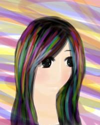 100 Themes: 18: Rainbow by hikari-midorichan
