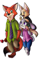Nick, Judy and Finnick by arminis