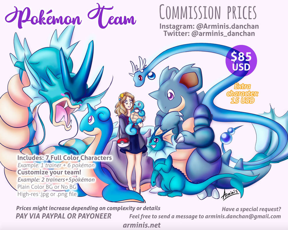 Pokemon  Team Commission Info