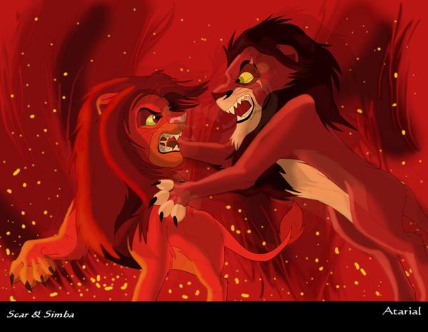 scar vs simba by Atarial