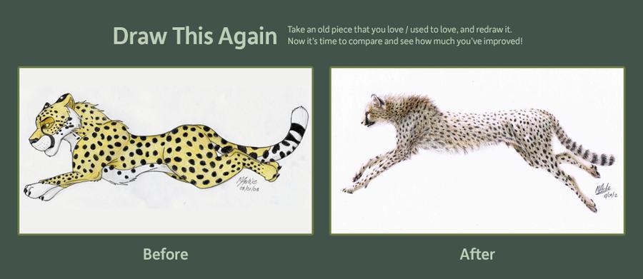 Draw This Again- Cheetah by Atarial