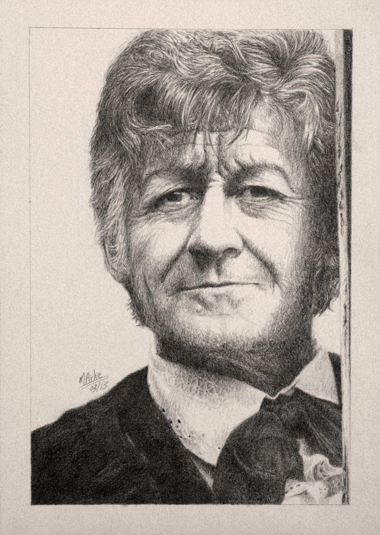 Drawing Doctor Who Project- Jon Pertwee by Atarial