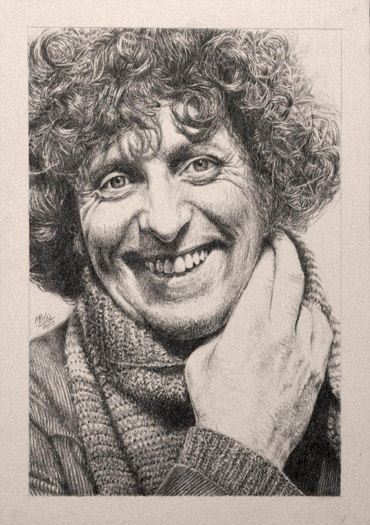 Drawing Doctor Who Project- Tom Baker by Atarial