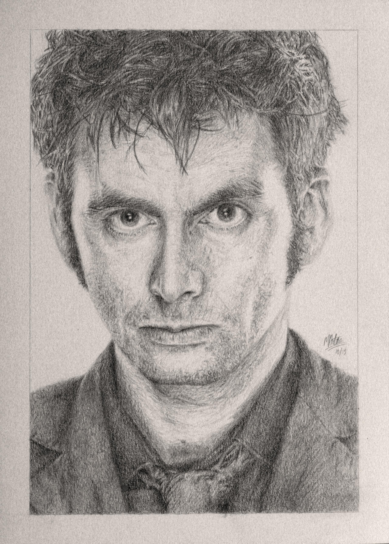 Drawing Doctor Who Project- David Tennant by Atarial
