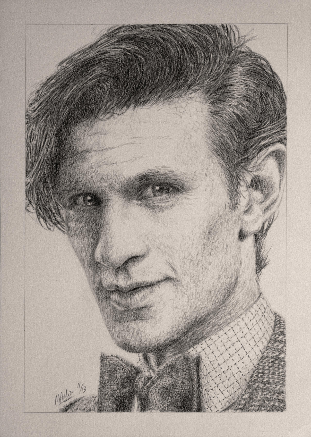 Drawing Doctor Who Project- Matt Smith by Atarial